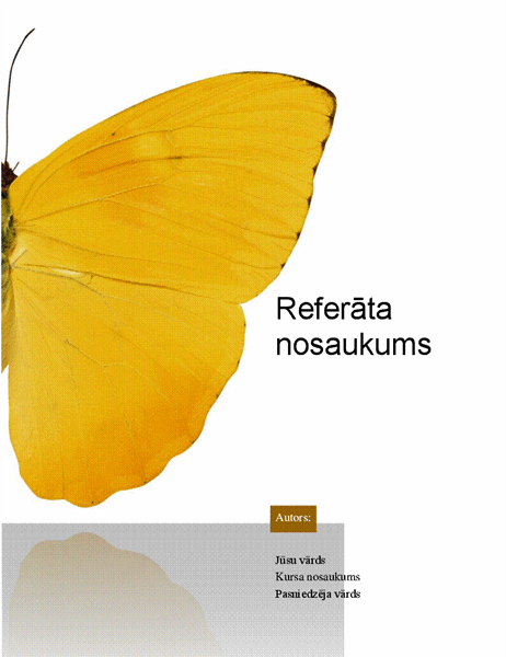 Studenta referāts
