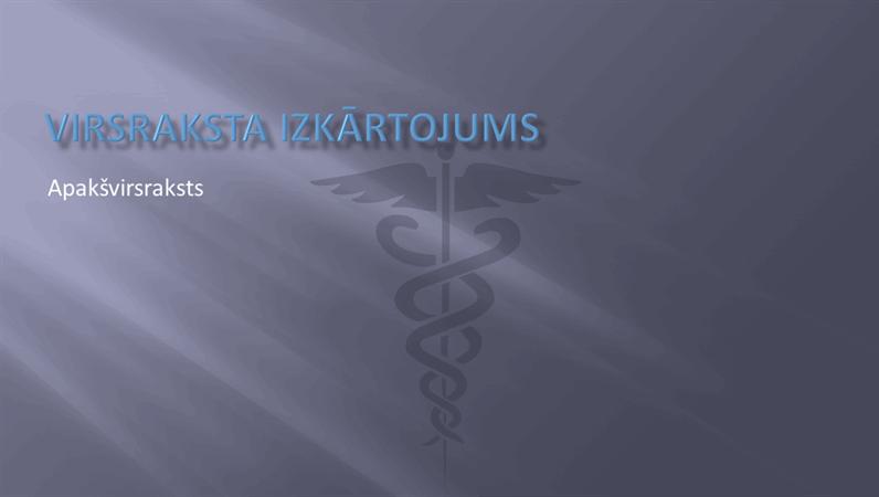 Medicīniska rakstura prezentācijas slaidu noformēšana