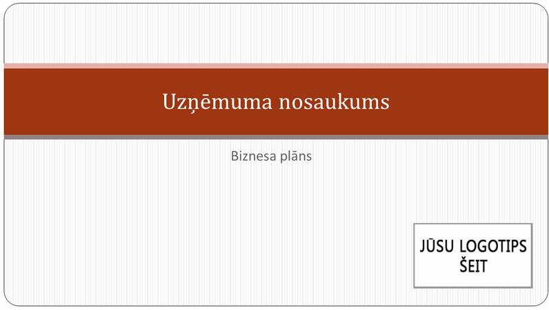 Uzņēmējdarbības plāna prezentācija