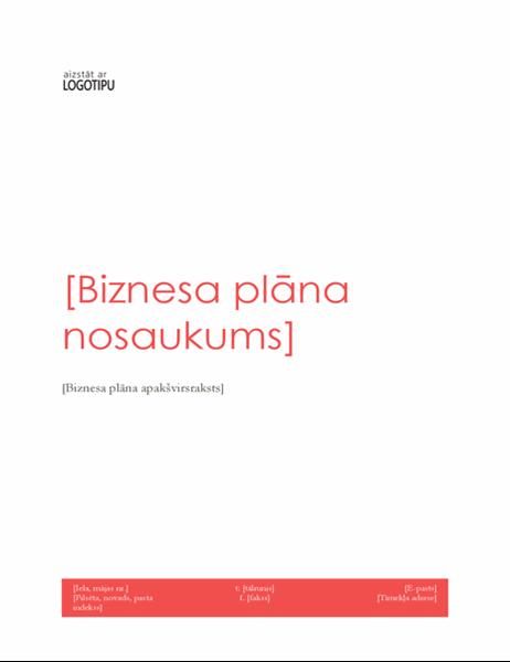 Biznesa plāns