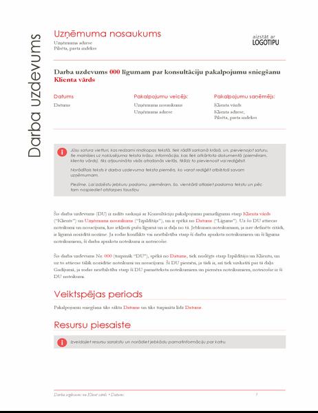 Darba pārskats (sarkans noformējums)