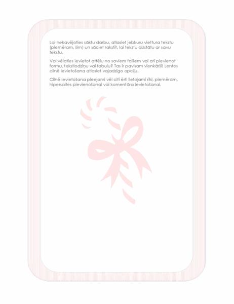 Brīvdienu vēstuļpapīrs (ar konfektes ūdenszīmi)