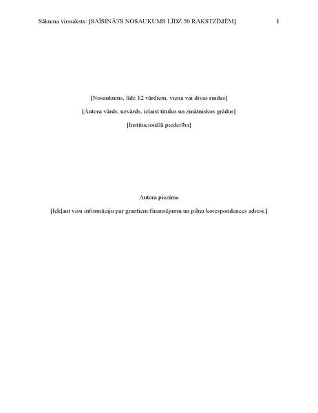 APA stila referāts (6. izdevums)
