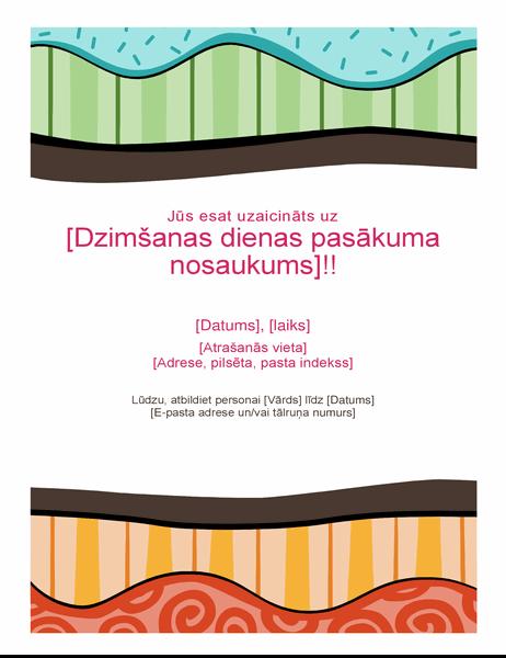 Dzimšanas dienas skrejlapa (košs dizains)