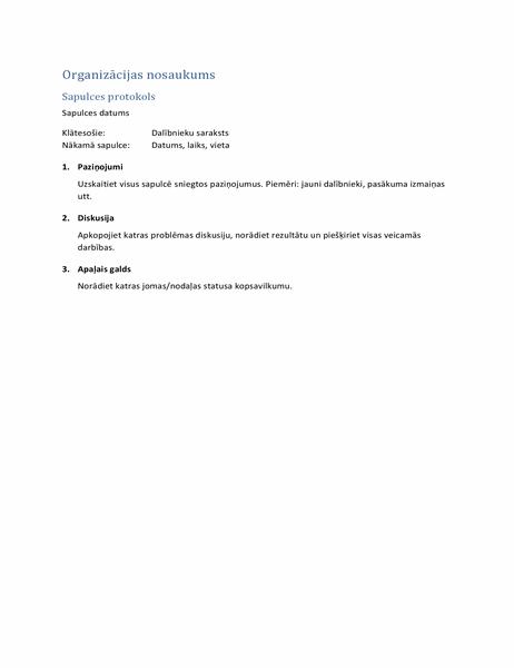 Sapulces protokols (īsā veidlapa)