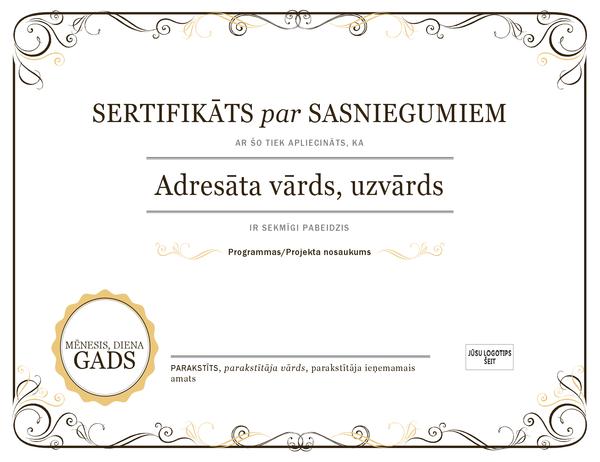 Sekmju sertifikāts