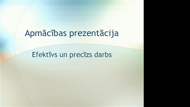Apmācības semināra prezentācija