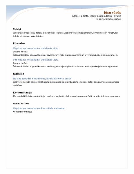 Hronoloģisks CV