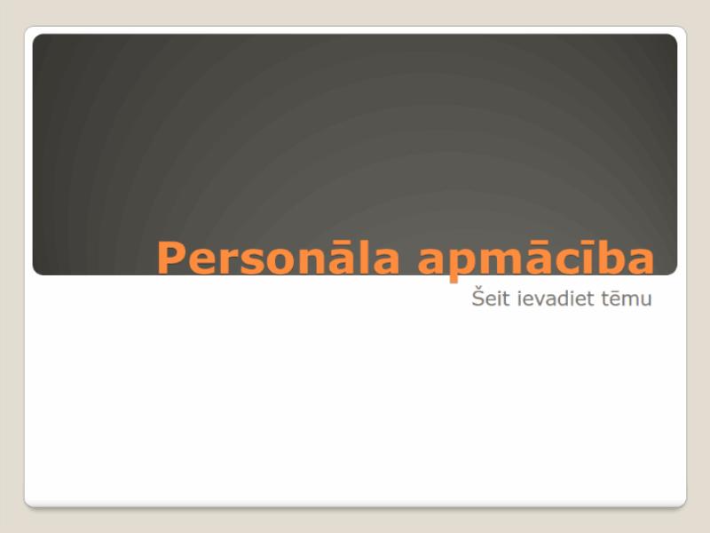 Prezentācija par personāla apmācību