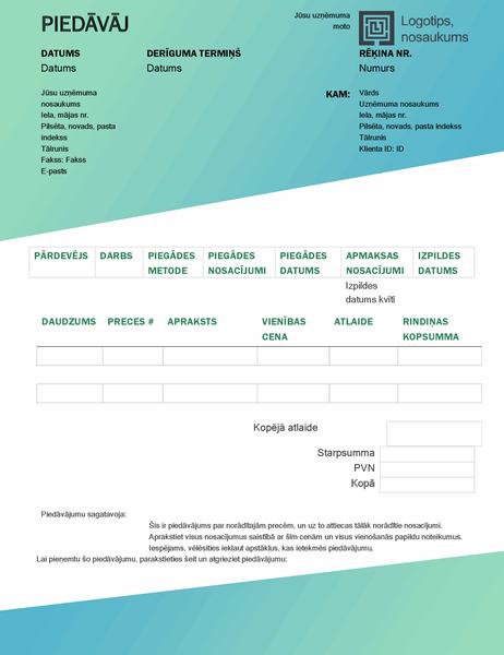 Pārdošanas piedāvājums (zaļa gradienta noformējums)