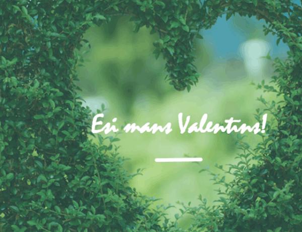 Valentīna dienas kartīte (locījums uz pusēm)