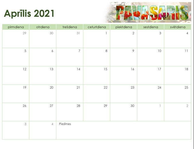 Sezonas fotoattēlu kalendārs