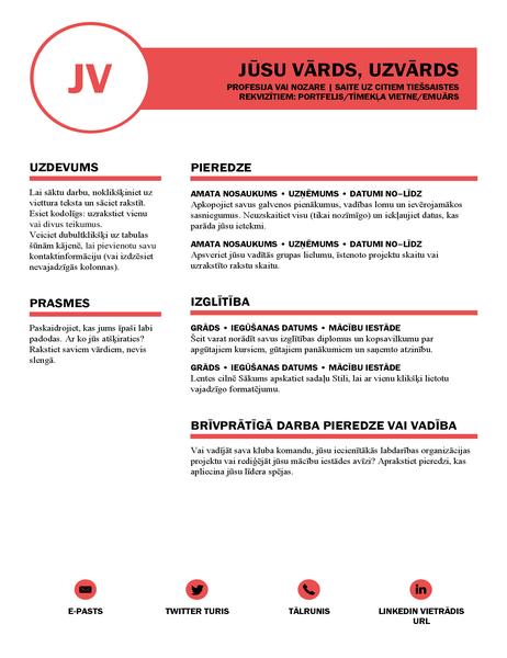 Elegants CV, ko veidoja MOO