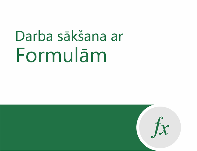 Apmācība par formulām