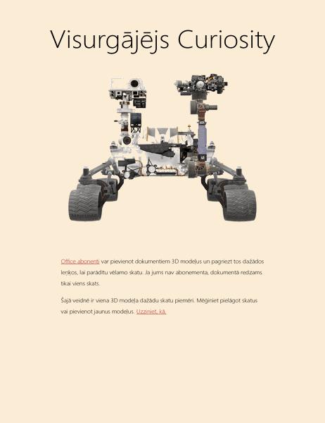 3D Word zinātniskā atskaite (Marsa visurgājēja modelis)