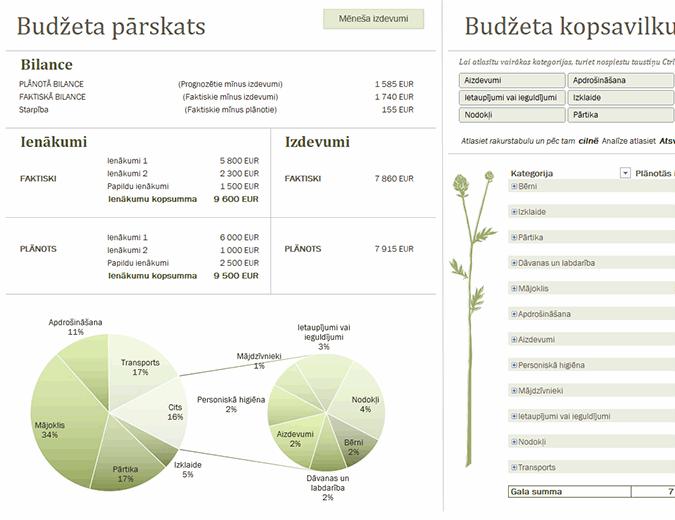 Ģimenes budžets (mēneša)
