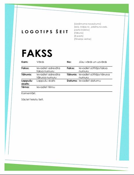 Ģeometriska faksa titullapa