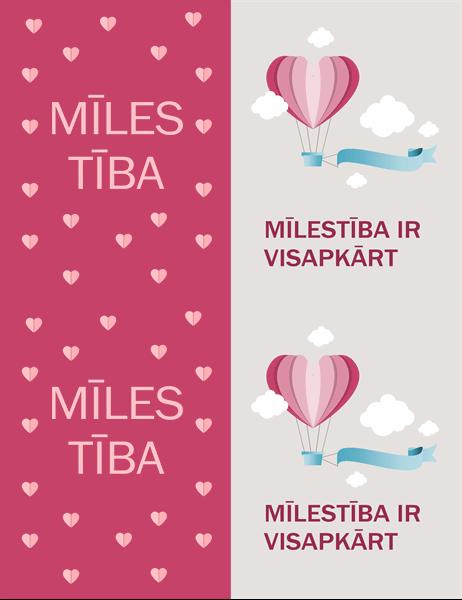 Mīlestība ir visapkārt: Valentīna kartīte