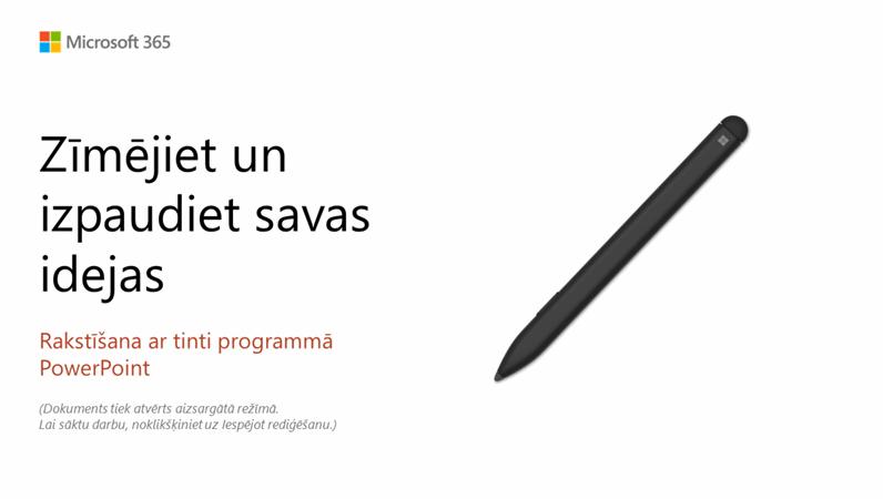 Esiet sveicināts programmā PowerPoint!