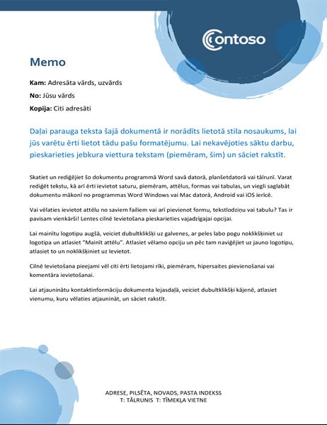 Ziņojums ar ziliem apļiem