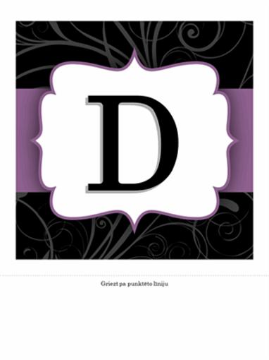 Jubilejas reklāmkarogs (noformējums ar purpursarkanu lenti)