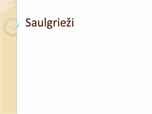 Saulgrieži