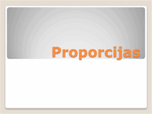 Proporcijas