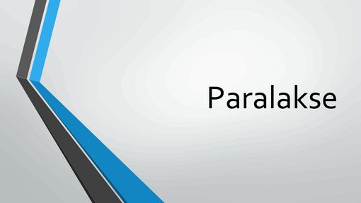 Paralakse
