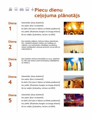 Piecu dienu ceļojuma plānotājs