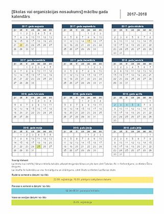 2017.–2018.mācību gada kalendārs