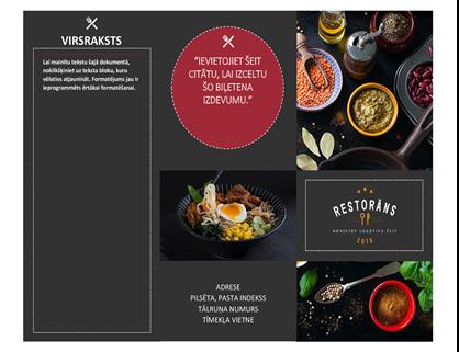 Restorāna brošūra