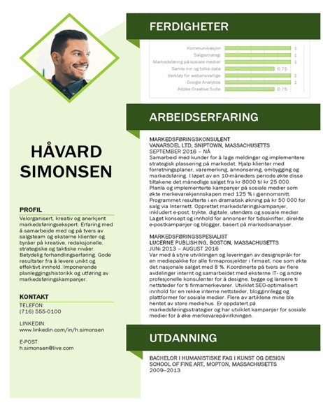 Markedsføring-CV