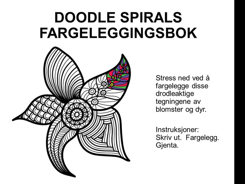 Doodlespiral fargeleggingsbok