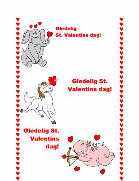 Valentinsdagskort (3/s.)