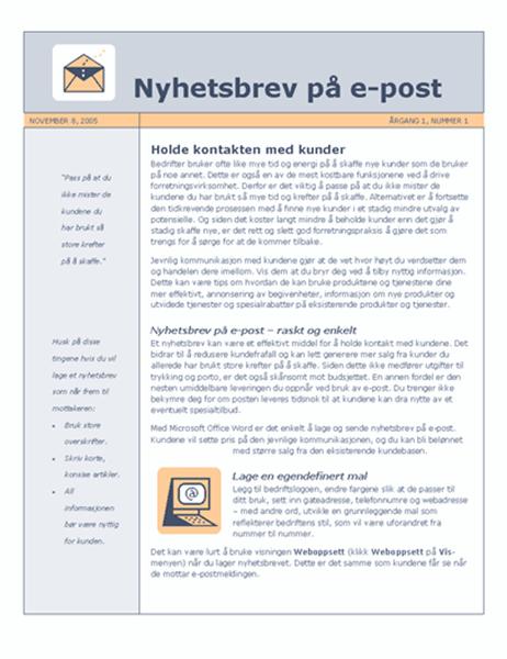 Nyhetsbrev på e-post