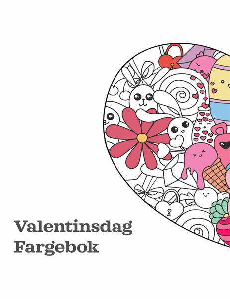 Fargebok for valentinsdagen