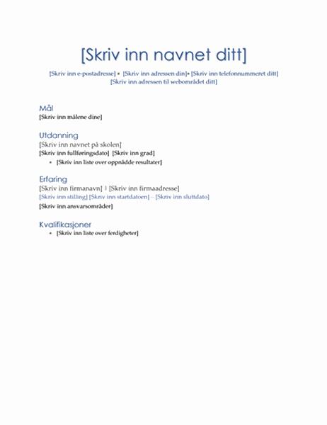 CV (ledelsestema)