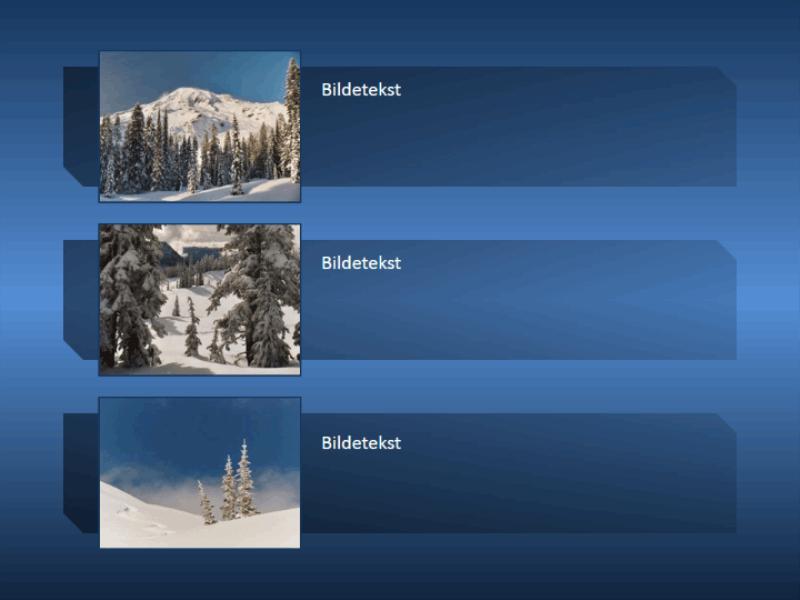 Animert fjellbilde vokser inn i bildet og reduseres