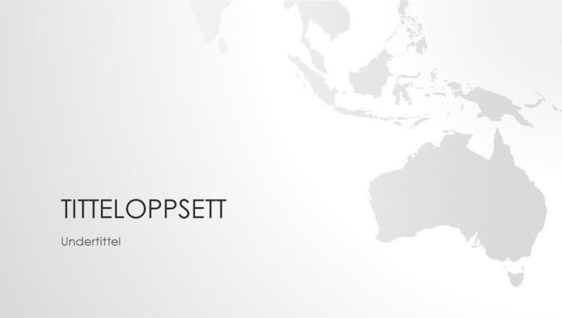 Serie av verdenskart, presentasjon av det australske kontinentet (bredformat)