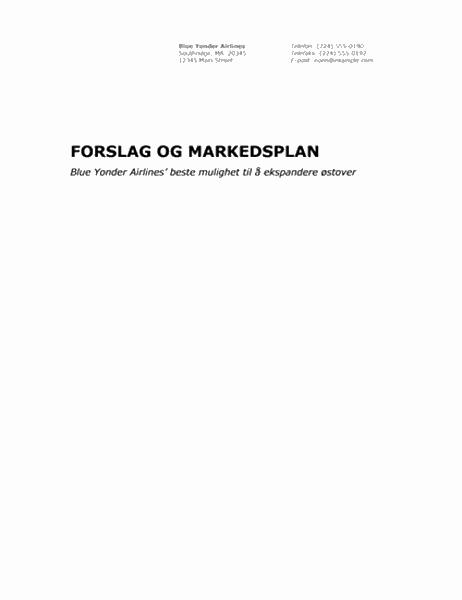 Forretningsrapport (profesjonelt tema)