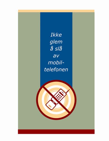 Forespørsel om mobiltelefon