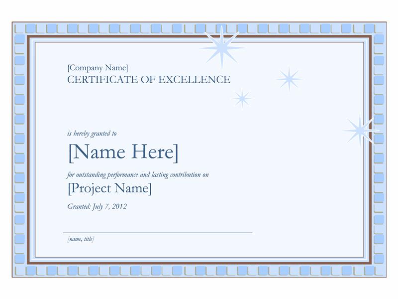 Diplom for utmerket arbeid