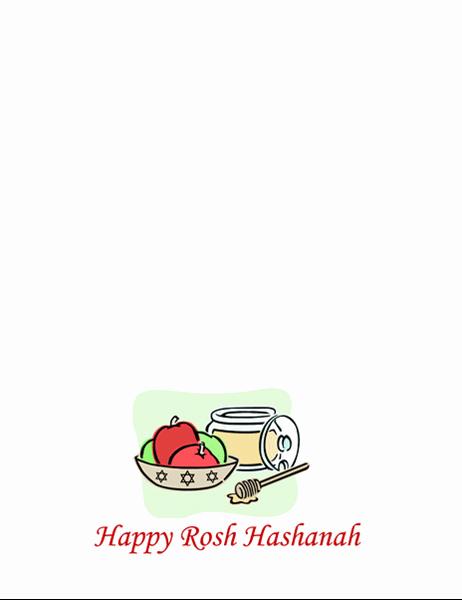 Rosh Hashanah-kort (med epler og honning)