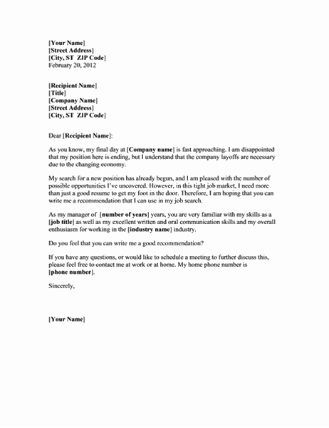 Forespørsel om anbefalelsesbrev fra en tidligere sjef