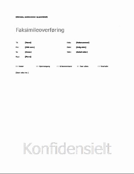 Enkel faksforside