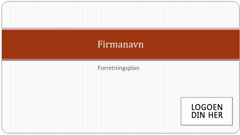 Presentasjon av forretningsplan