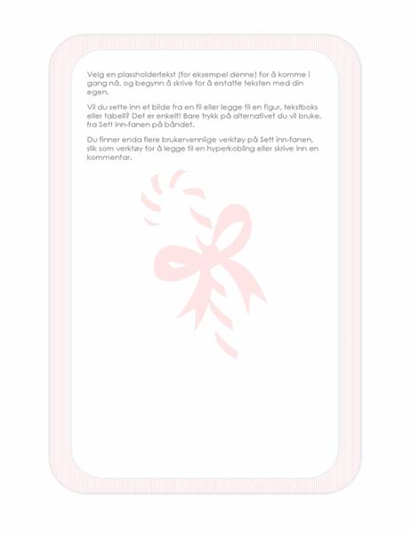 Julebrevpapir (med sukkertøystang som vannmerke)