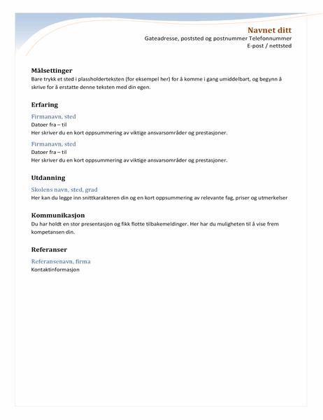 Kronologisk CV