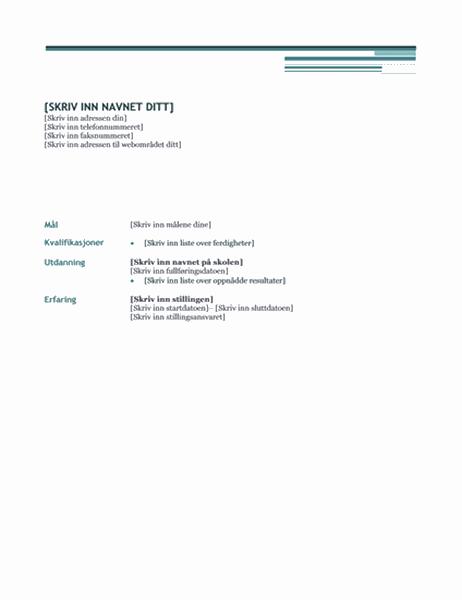 CV (moderne-utforming)