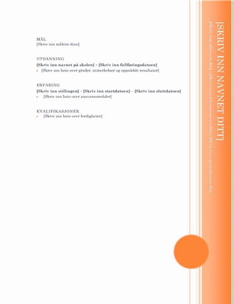 CV (menneskelig utforming)